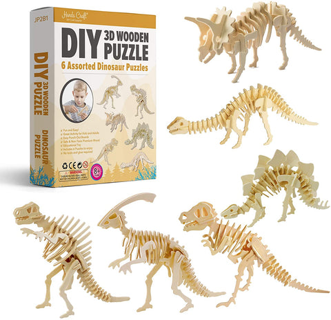 3D Wood Puzzle Dinos