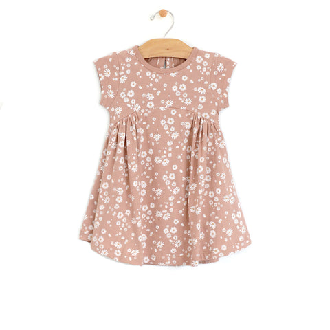 Daisies Side Gather Dress