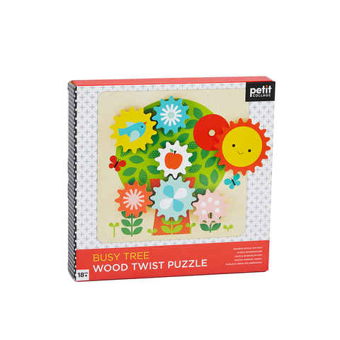 Wooden Twist Puzzle: Busy Tree