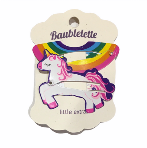 Unicorn & Rainbow Clips