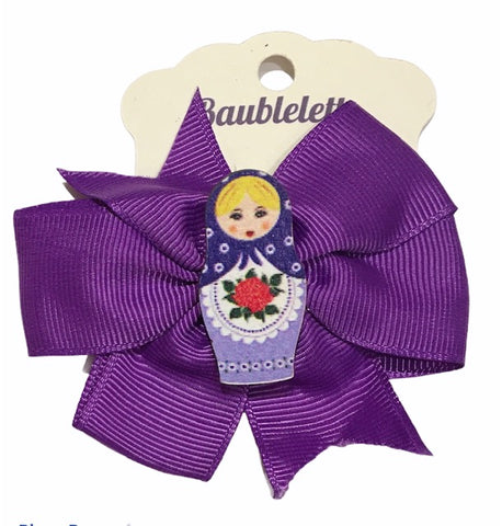 Matrioshka Bow in Purple