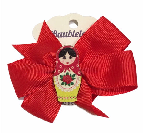 Matryoshka Bow in Red