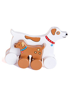 Mommy & Baby Dog Push Toy