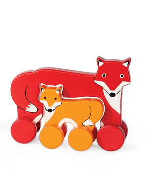 Mommy & Baby Fox Push Toy