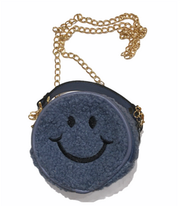 Smiley Face Purse in Blue