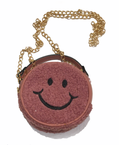 Smiley Face Purse in Pink