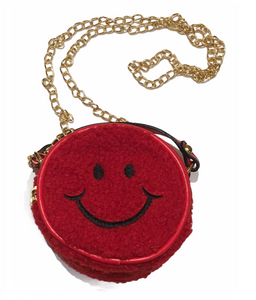 Smiley Face Purse in Red