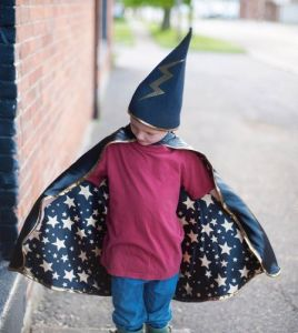 Wizard Reversible Cape & Hat Set