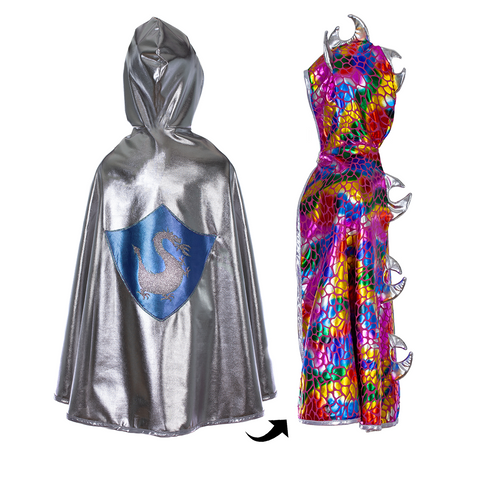 Holographic Dragon/Knight Hooded Cape