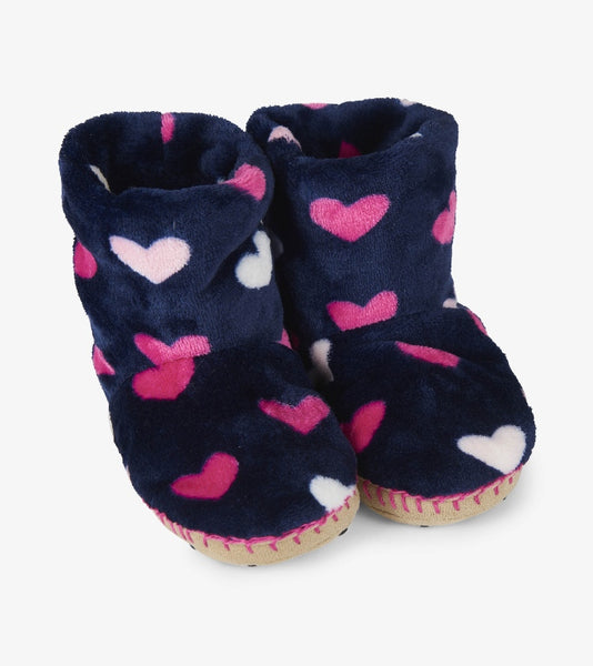 Lovey Hearts Fleece Slippers