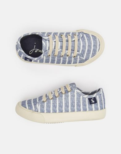 Coast Canvas Trainers in Chambray Stripe