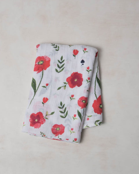 Summer Poppy Swaddle