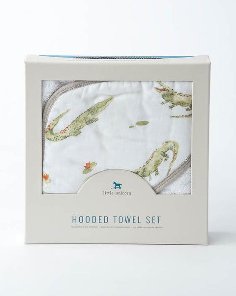 Crocodile Hooded Towel