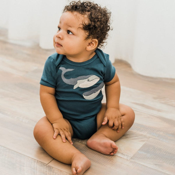 Whale Applique Bodysuit