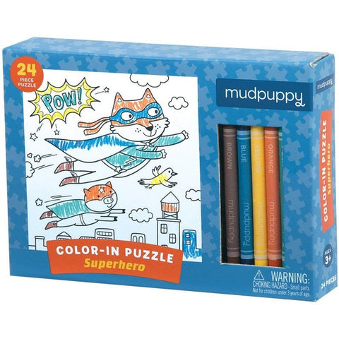 Super Hero Color In Puzzle