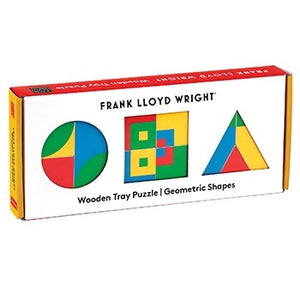 Frank Lloyd Wright Geometric Shapes Wooden Tray Puzzle