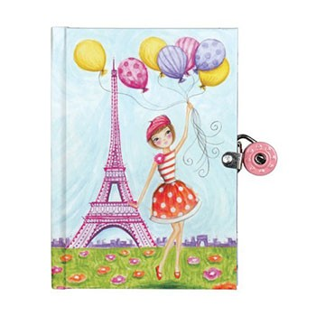 J'Adore Paris Lock Diary