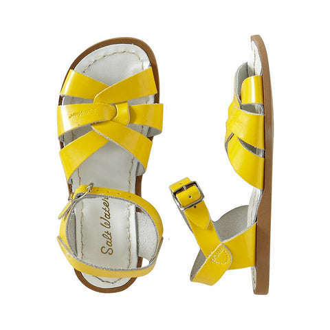 Saltwater Sandal in Yellow Shiny