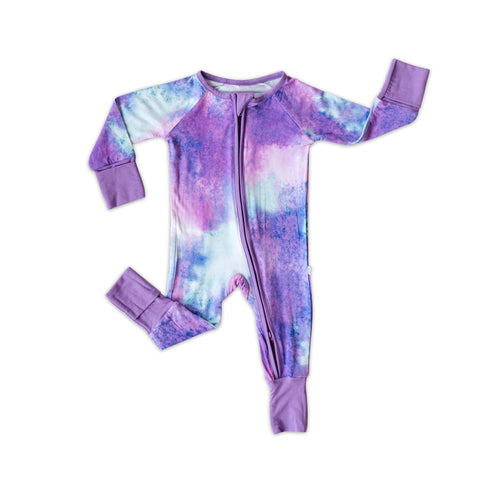 Watercolor Romper in Purple