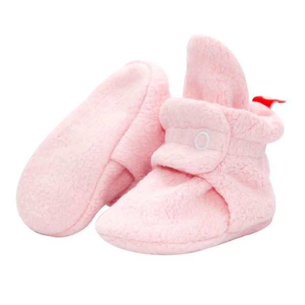 Cozie Fleece Booties in Baby Pink