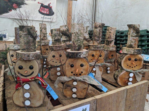 Wooden Snowman - Small