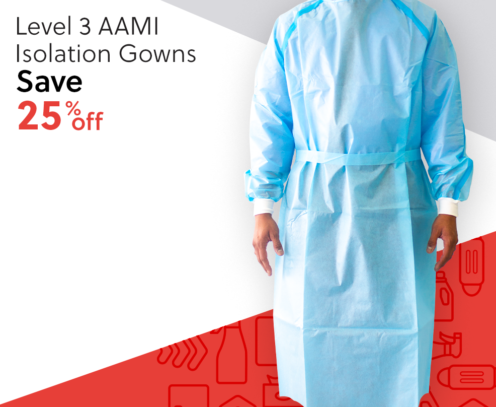 Level 3 AAMI Isolation Gowns - Save 25% Off