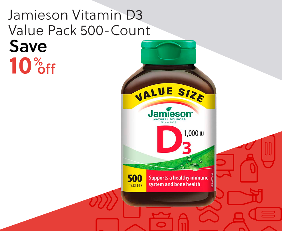 Jamieson Vitamin D3 Value Pack 500-Count - Save 10% Off
