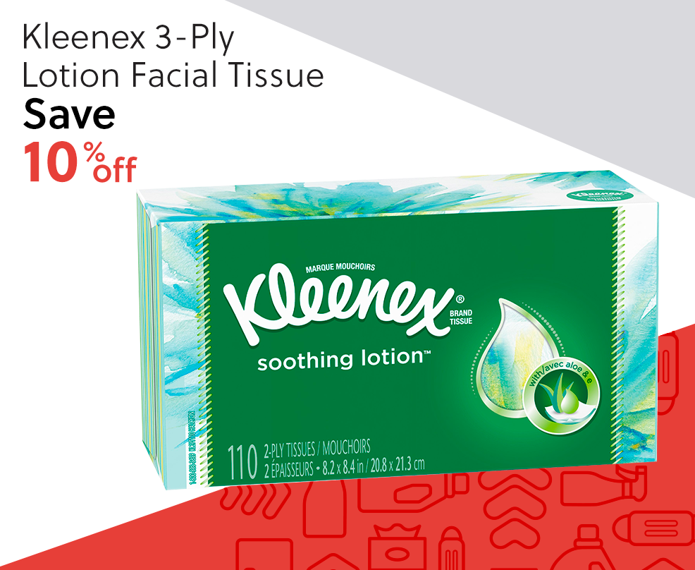 Kleenex 3-Ply Lotion Facial Tissue - Save 10% Off