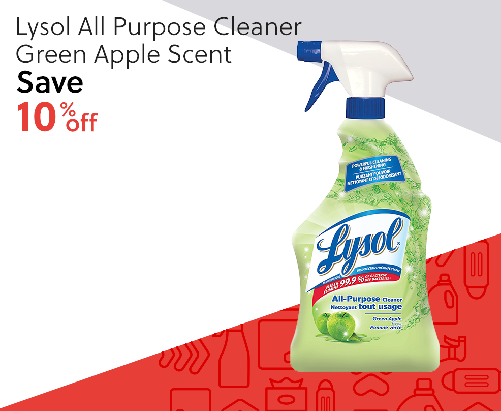 Lysol All Purpose Cleaner - Green Apple Scent - Save 10% off
