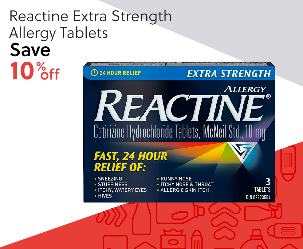 Reactine Extra Strength Allergy Tablets - Save 10% Off