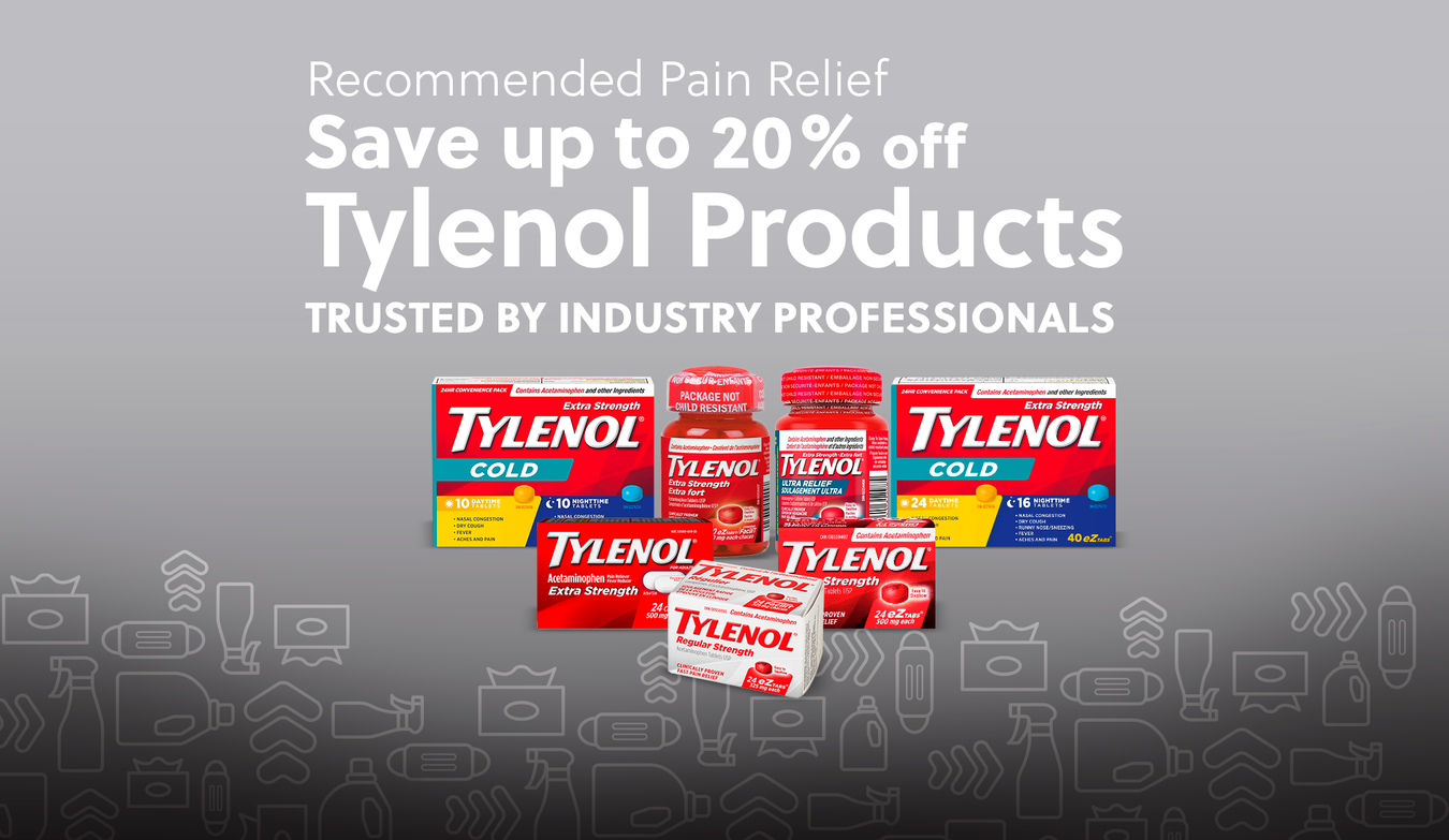 Recommended Pain Relief - Save up to 20% off Tylenol Products - Trusted by Industry Professionals
