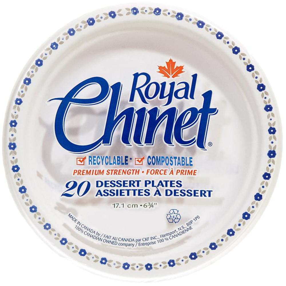 Royal Chinet Dessert Plates | 20 Pack