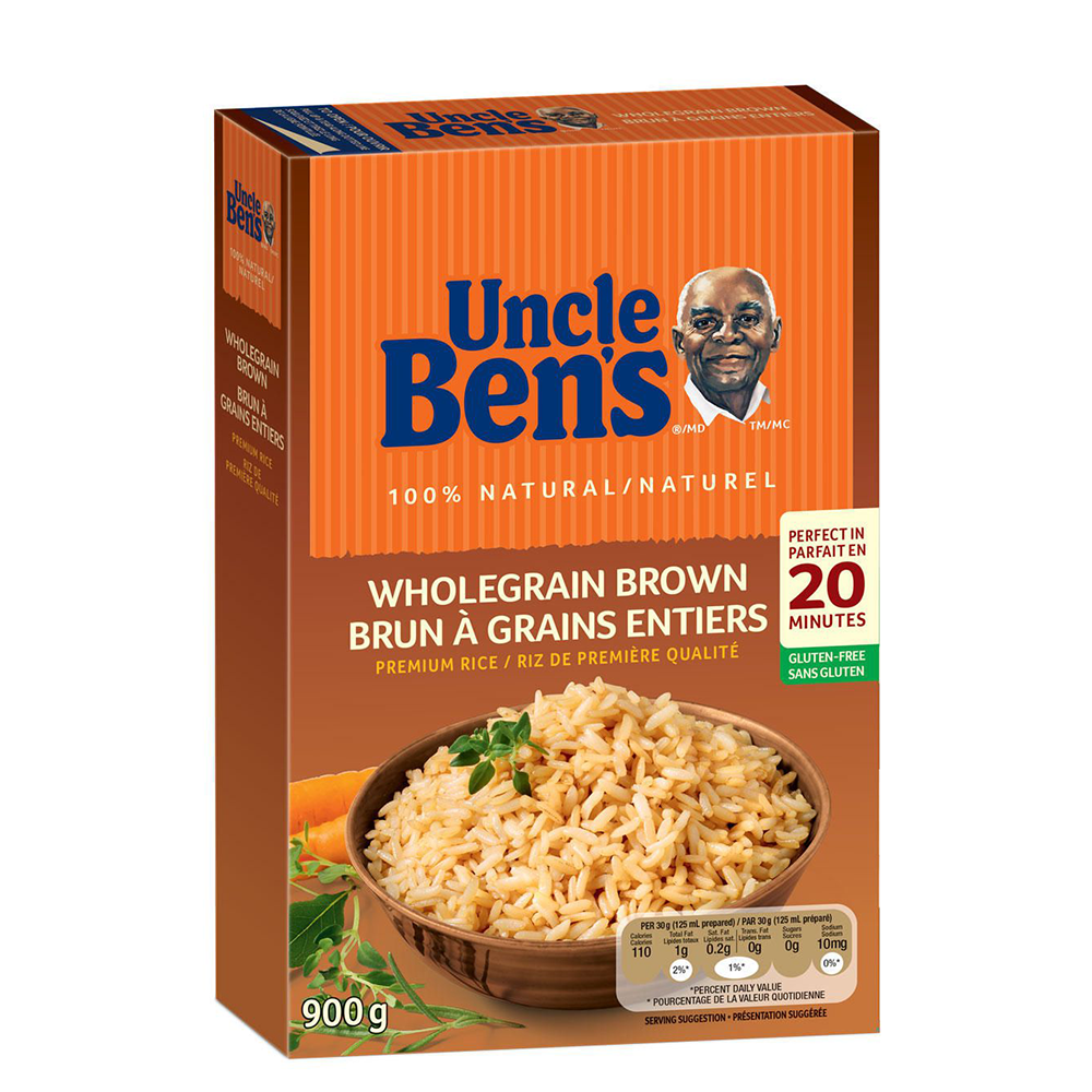 UNCLE BEN'S ORIGINAL WHOLEGRAIN BROWN RICE, 900g