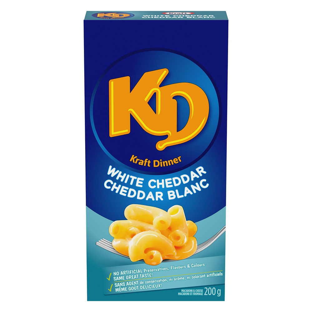 KRAFT DINNER WHITE CHEDDAR MACARONI & CHEESE