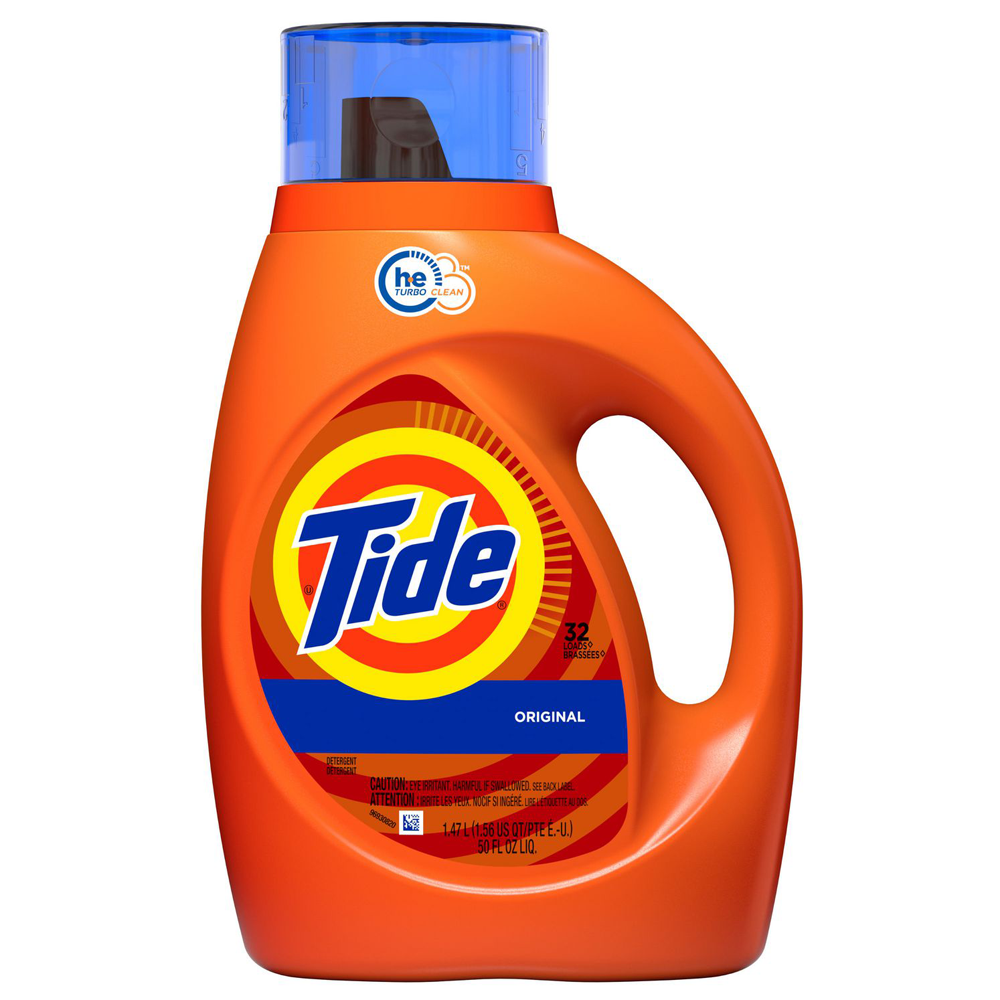 Tide HE Turbo Clean Liquid Laundry Detergent | Original Scent | 1.47 L