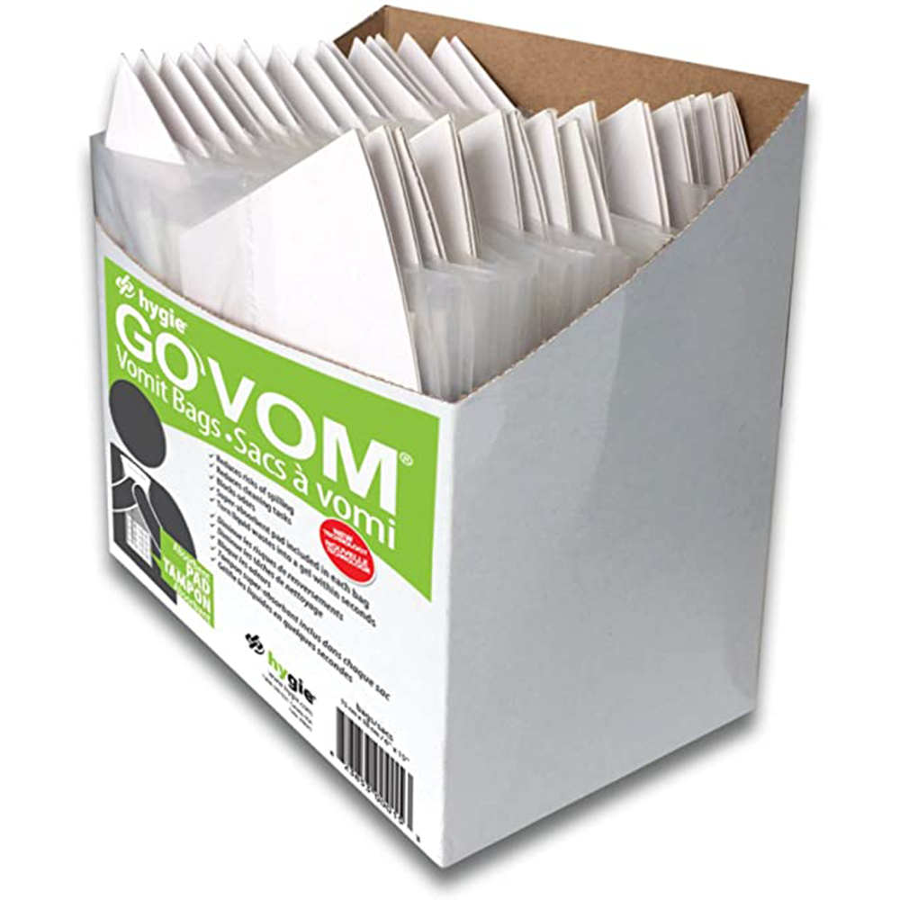 Go Vom Vomit Bag | With Cardboard Cone | 16 per Case
