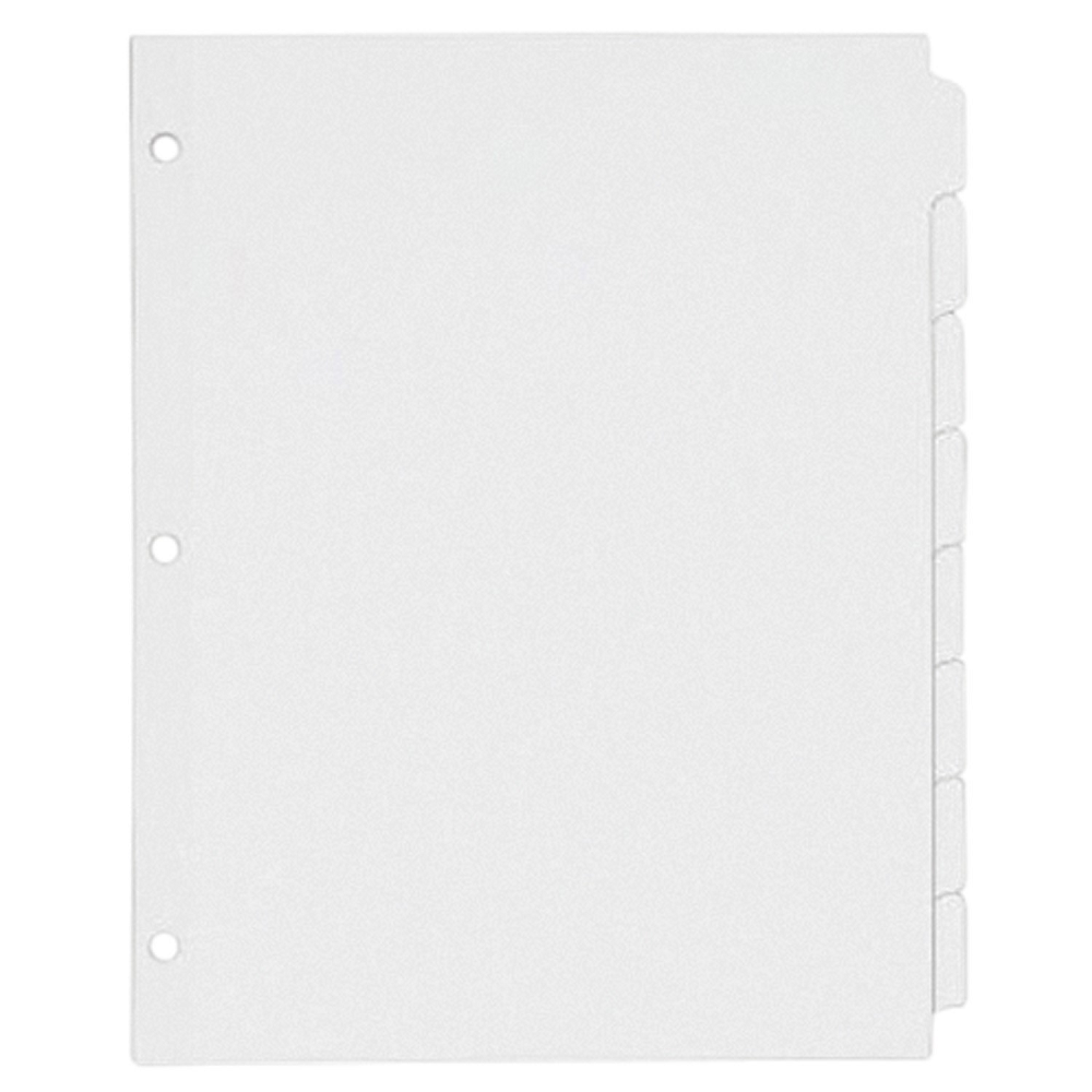 Oxford Plain Letter-Size White Tab Dividers
