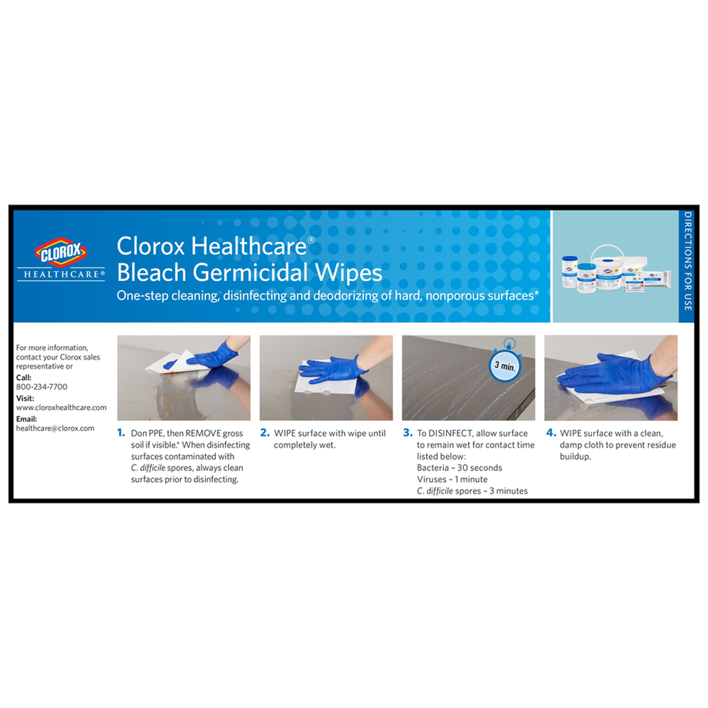 Clorox Healthcare Bleach Germicidal Wipe Refill | 110 Wipes