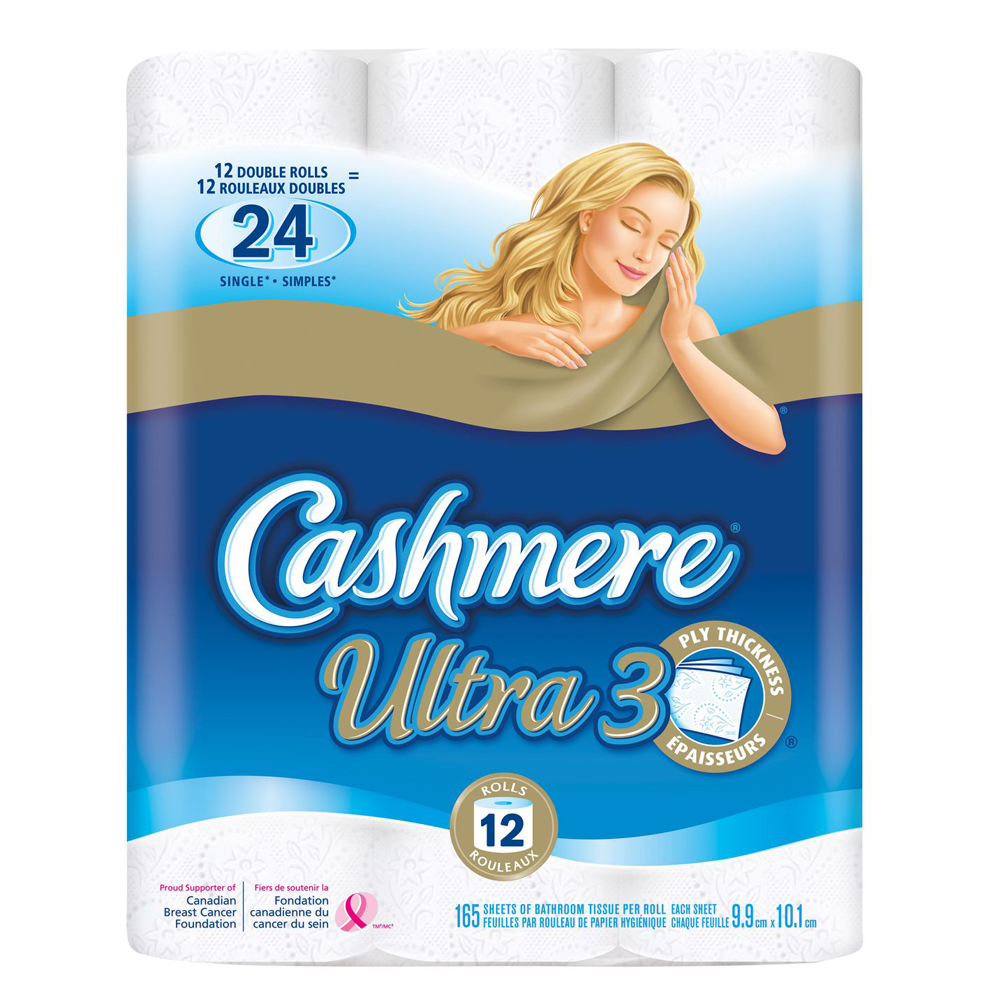 Cashmere Ultra 3-Ply Bathroom Tissue | 12 Double Rolls