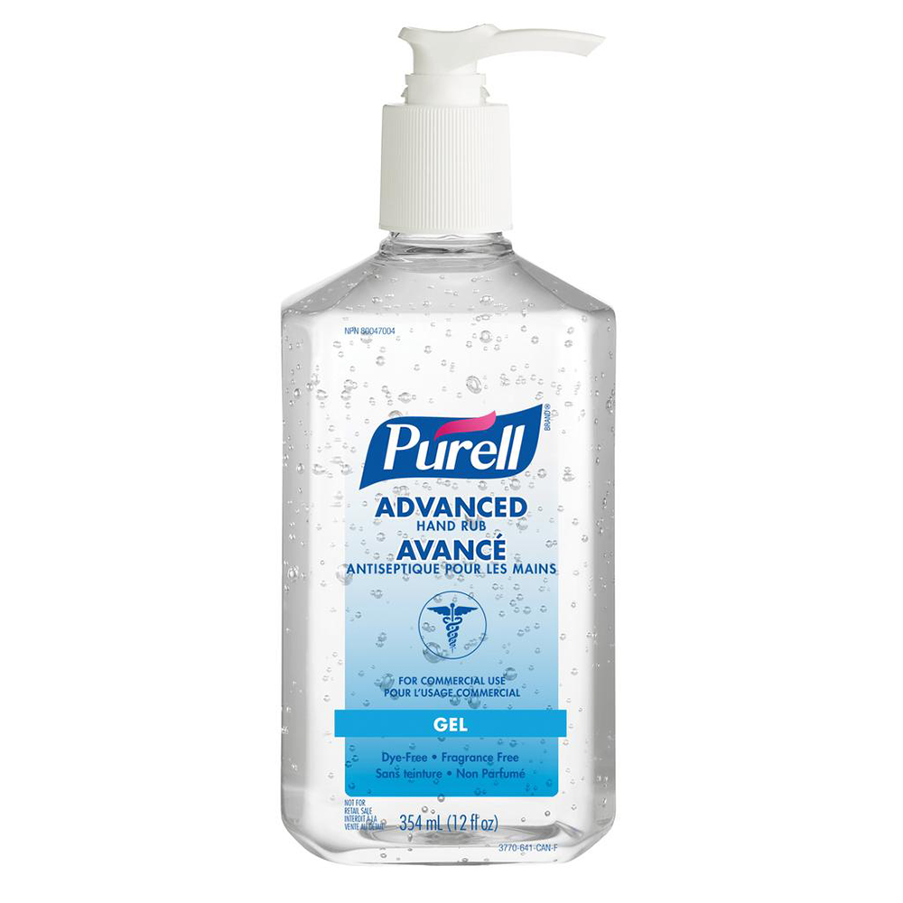 PURELL ADVANCED HAND RUB 354mL TABLE TOP PUMP BOTTLE