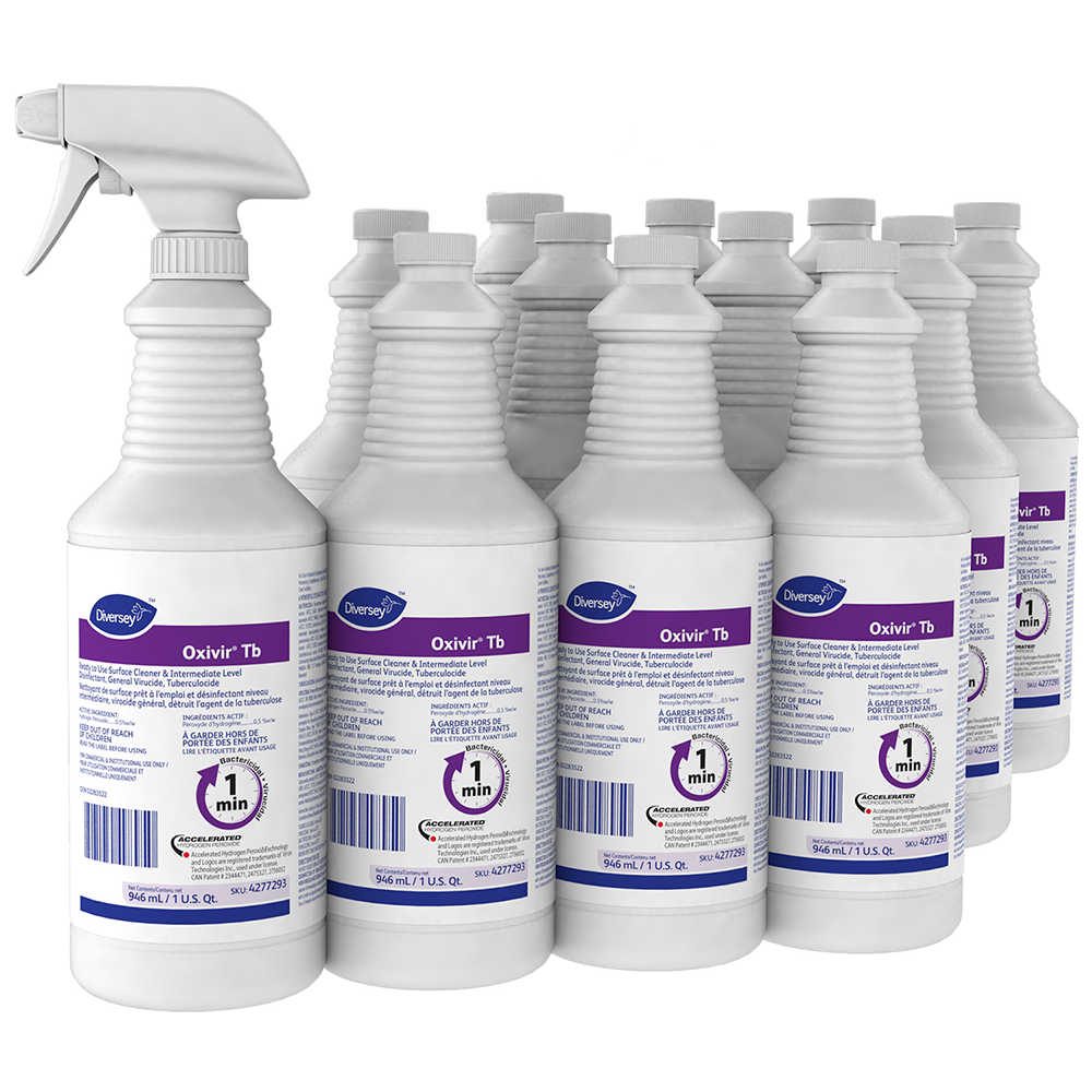 Oxivir TB Ready-To-Use Disinfectant Cleaner | 946 mL | Case of 12