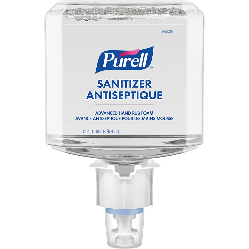 Purell Healthcare Advanced Hand Sanitizer Gentle & Free Foam for ES4 Push-Style Hand Sanitizer Dispensers | 1200mL | 2 per Case