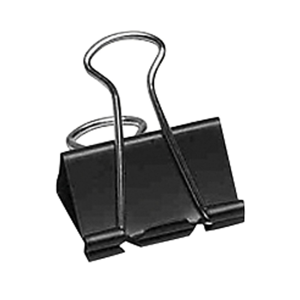 Westcott Sure-Grip Triangular Fold Back Binder Clips | Black/Silver | 2""