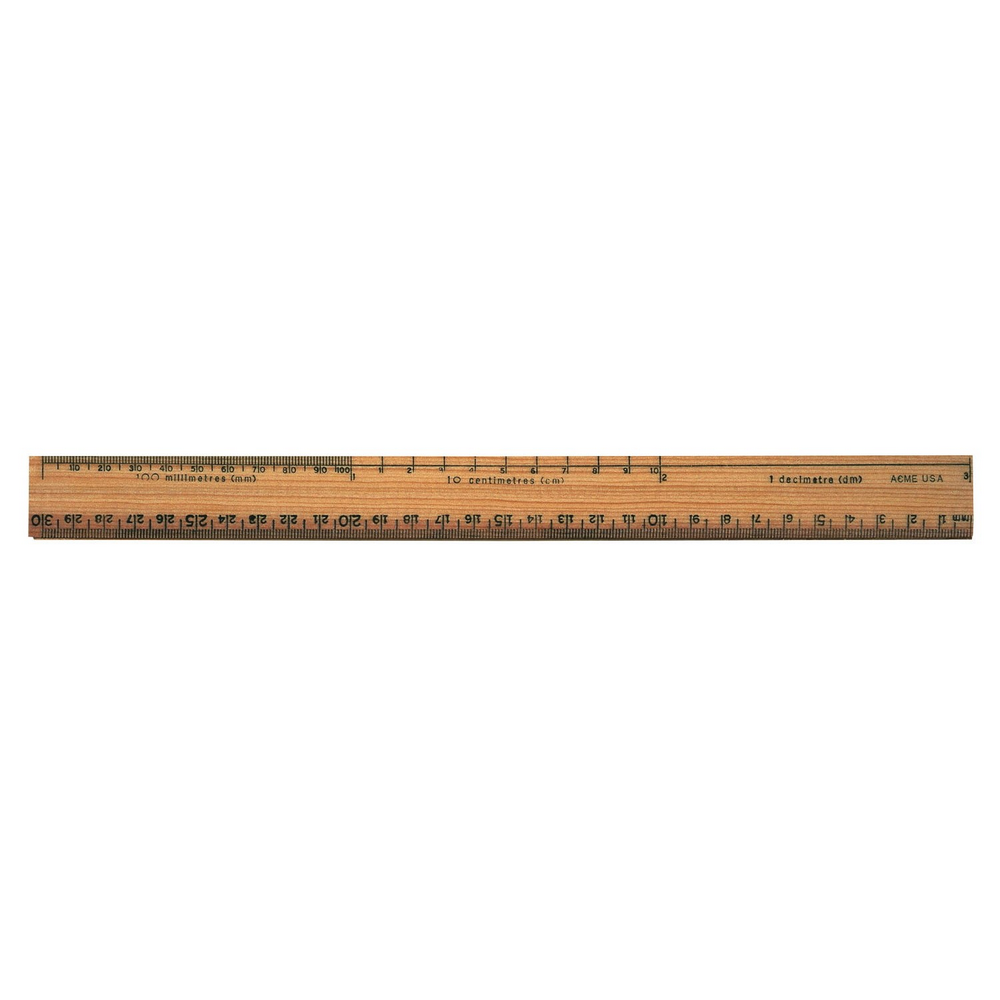 Acme Wooden Ruler | 30 CM Metric Scale