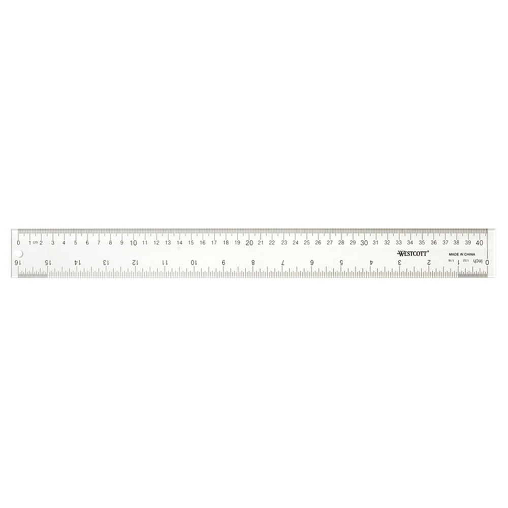 Westcott Office Desk Acrylic Ruler | Clear | 16""