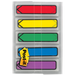 "Post-it Preprinted Arrow Message Flags | With On-The-Go Dispenser | Assorted Primary Colours | 1/2"" x 1 7/10"""