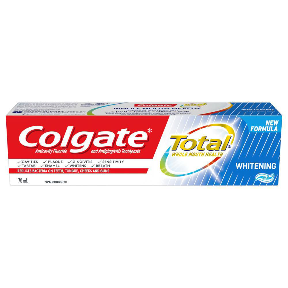 COLGATE TOTAL WHITENING TOOTHPASTE, GEL