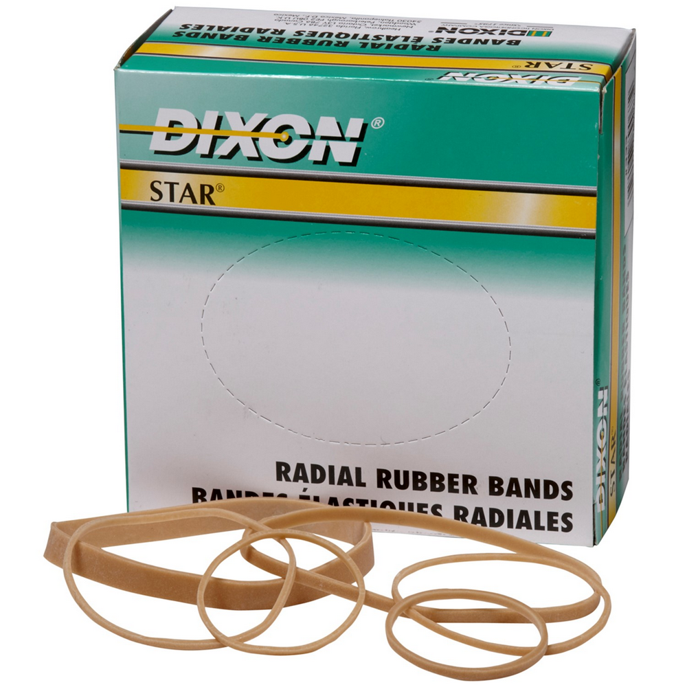 Dixon Star Radial Rubber Bands | Size #333/Assorted | 1/4-Lb/BX