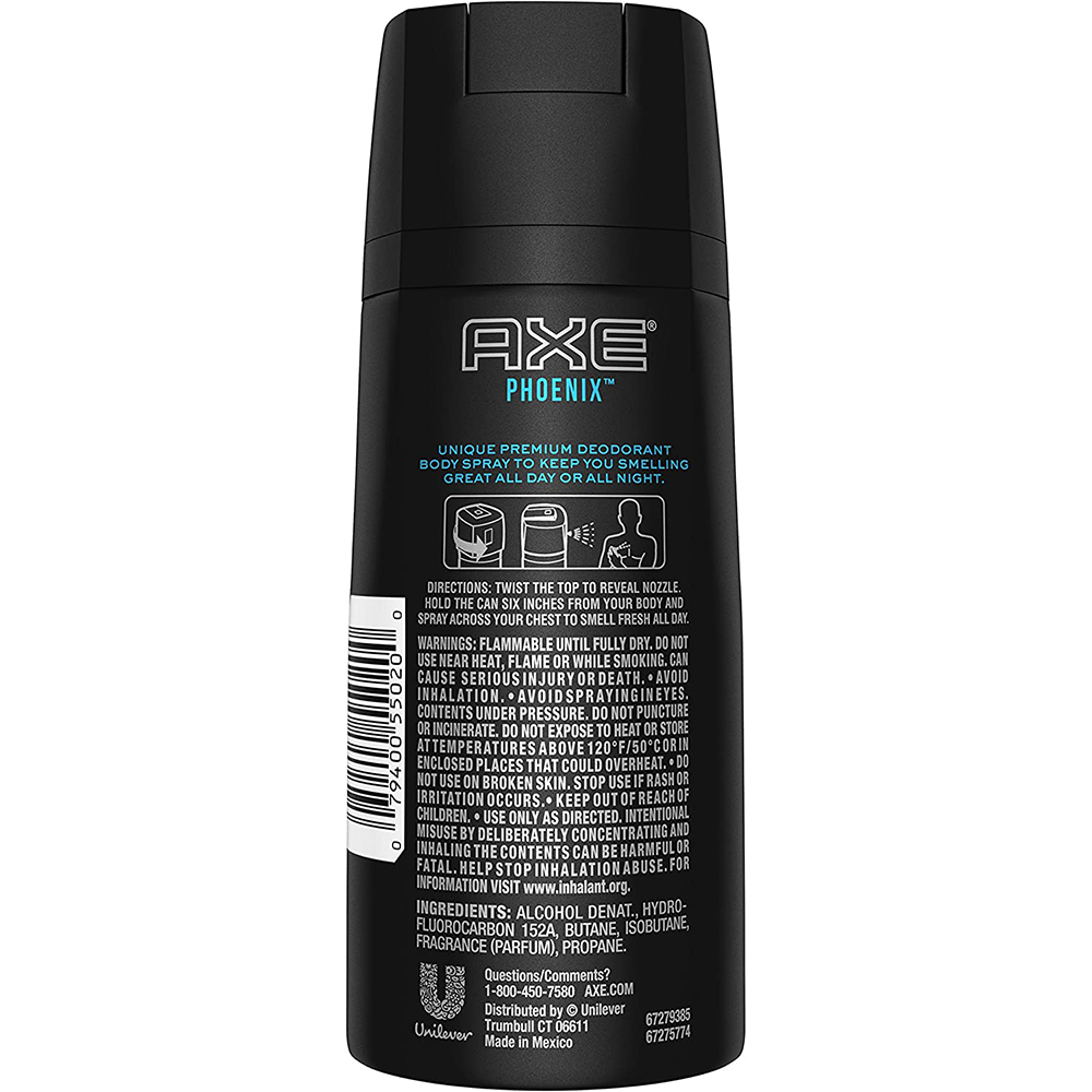 Axe Daily Fragrance | Phoenix Antibacterial Odour | 133 g