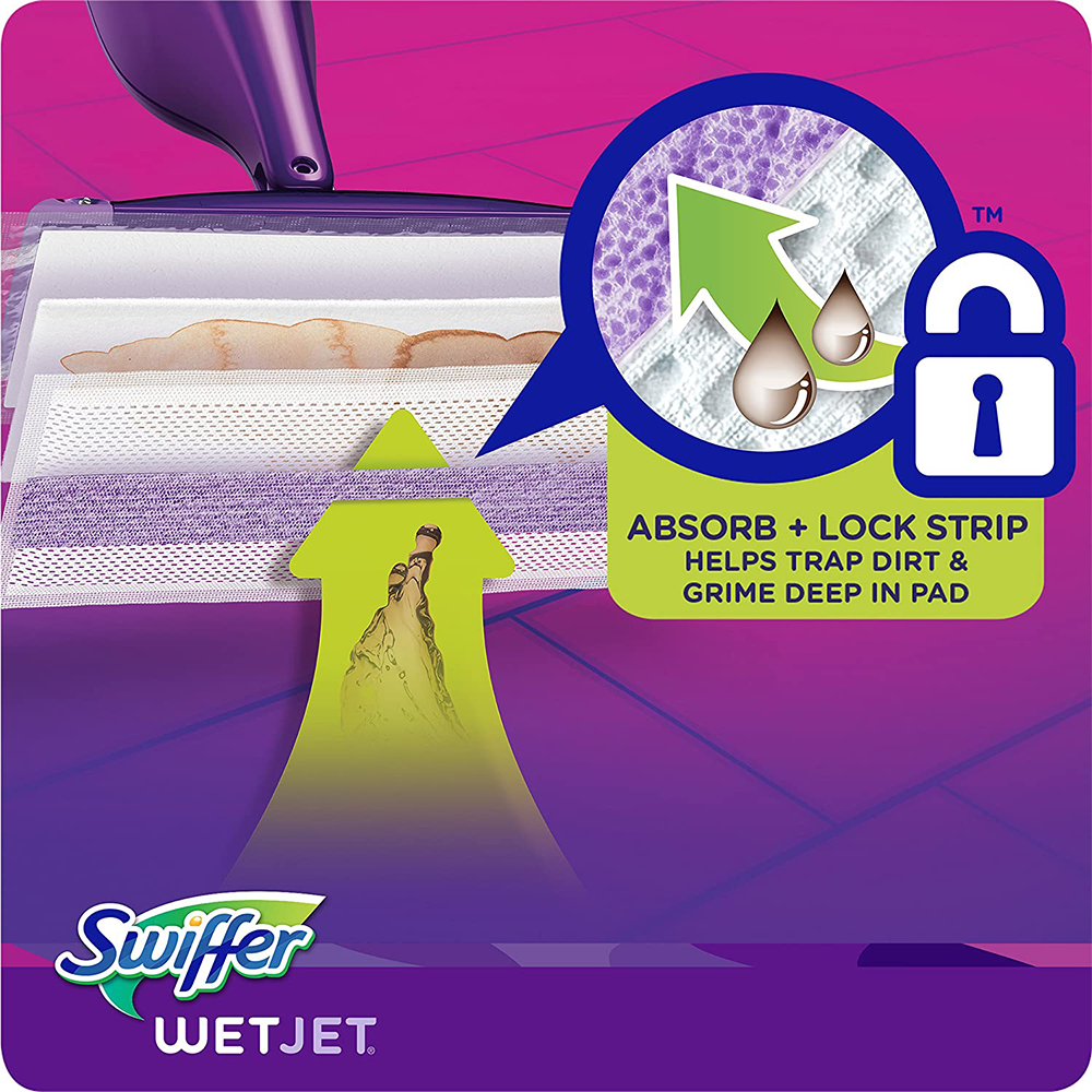 Swiffer Wetjet Wet Mopping Pads | Multi Surface Cleaner Refills For Floor Mop | 24 Count